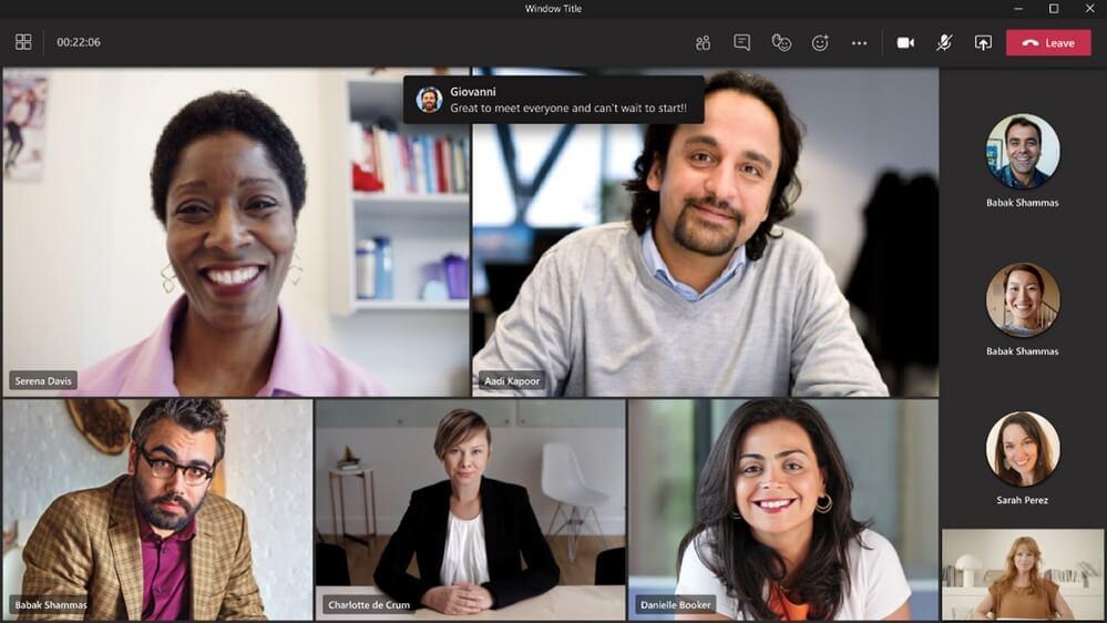 Chat Sprechblasen in Microsoft Teams