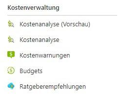 Azure Kostenverwaltung